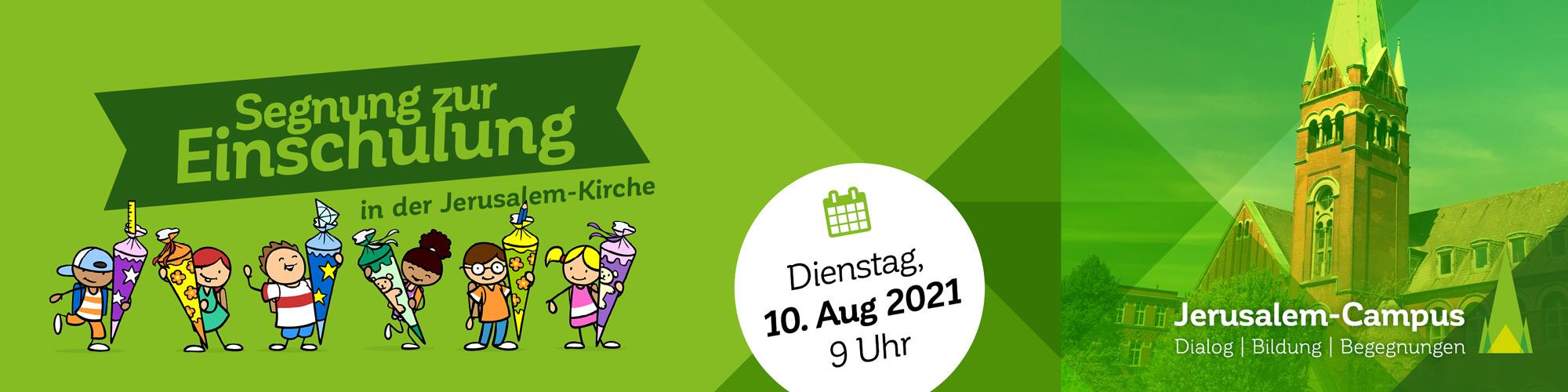 """Webbanner """"Segnung zur Einschulung 2021"""""""